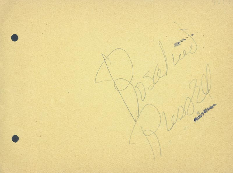Image 1 for Rosalind Russell - Autograph co-signed by: Loretta Young, Dorothy Bundy - HFSID 22890
