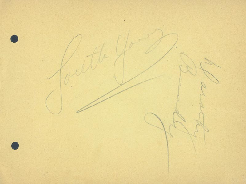Image 3 for Rosalind Russell - Autograph co-signed by: Loretta Young, Dorothy Bundy - HFSID 22890