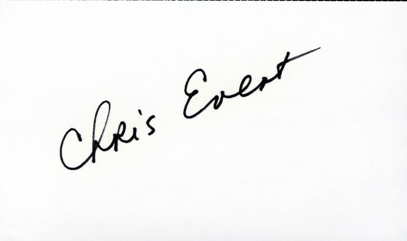 Image 1 for Chris Evert - Autograph - HFSID 2290