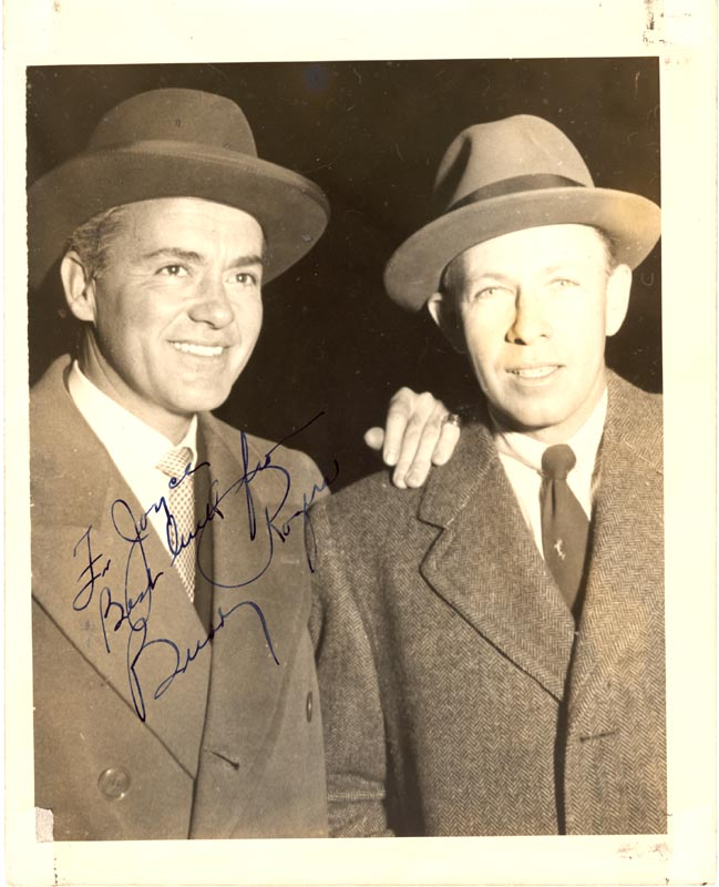 Image 1 for Charles 'Buddy' Rogers - Autographed Inscribed Photograph 10/1948 - HFSID 22927