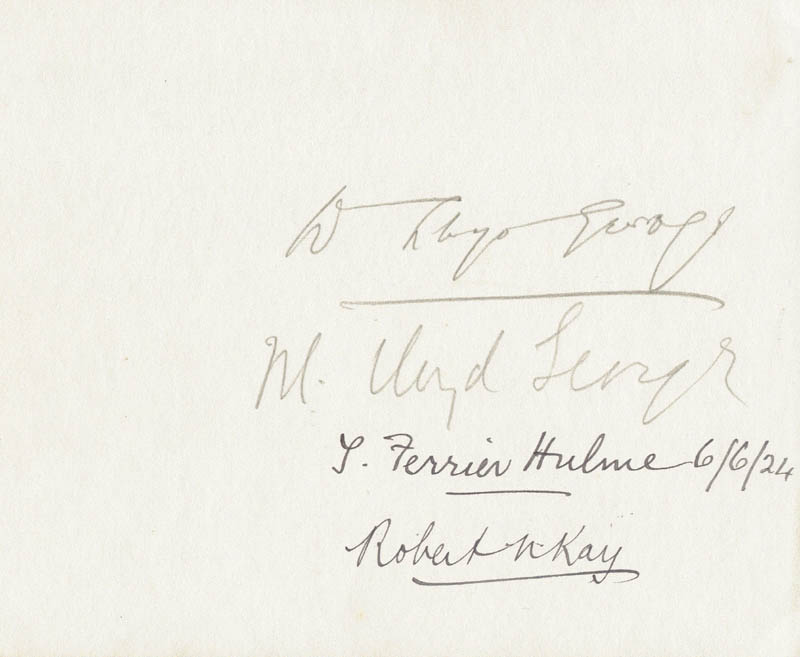 Image 1 for Prime Minister David Lloyd George (Great Britain) - Autograph with co-signers - HFSID 23768