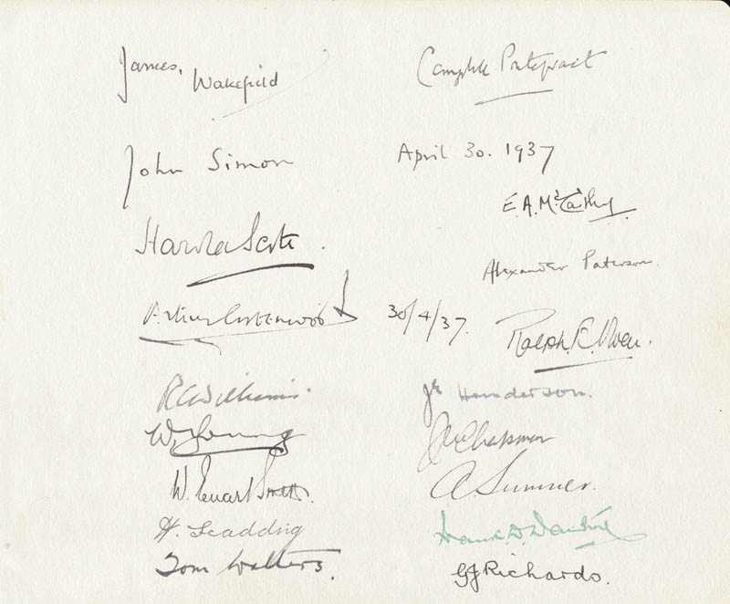 Image 3 for Prime Minister David Lloyd George (Great Britain) - Autograph with co-signers - HFSID 23768