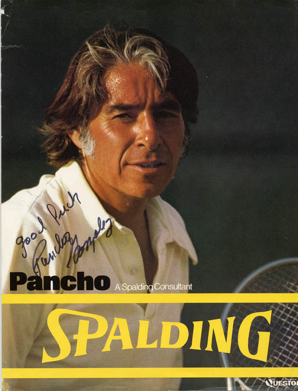 Image 1 for Pancho Gonzalez - Advertisement Signed - HFSID 2385