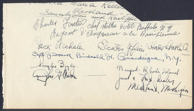 Image 3 for Brigadier General Clayton Adams - Autograph co-signed by: Madelaine Adams, J. Frank Birdsall Jr., Charles Fantin - HFSID 24000