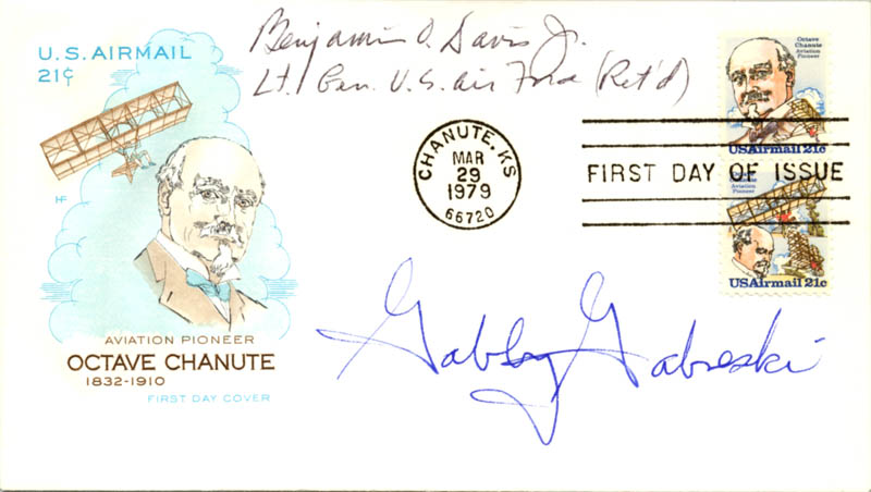 Image 1 for General Benjamin O. Davis Jr. - First Day Cover Signed co-signed by: Colonel Francis S. 'Gabby' Gabreski - HFSID 24116