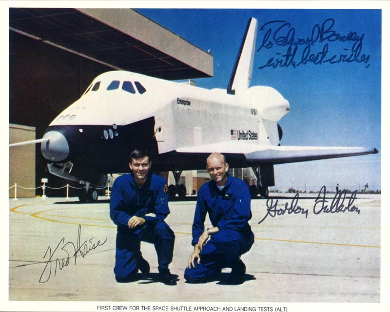 Image 1 for Fred W. Haise Jr. - Autographed Signed Photograph co-signed by: Colonel C. Gordon Fullerton - HFSID 24202