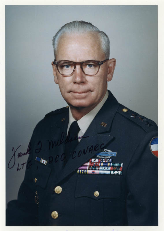 Image 1 for General Frank Thomas Mildren - Autographed Signed Photograph - HFSID 24312