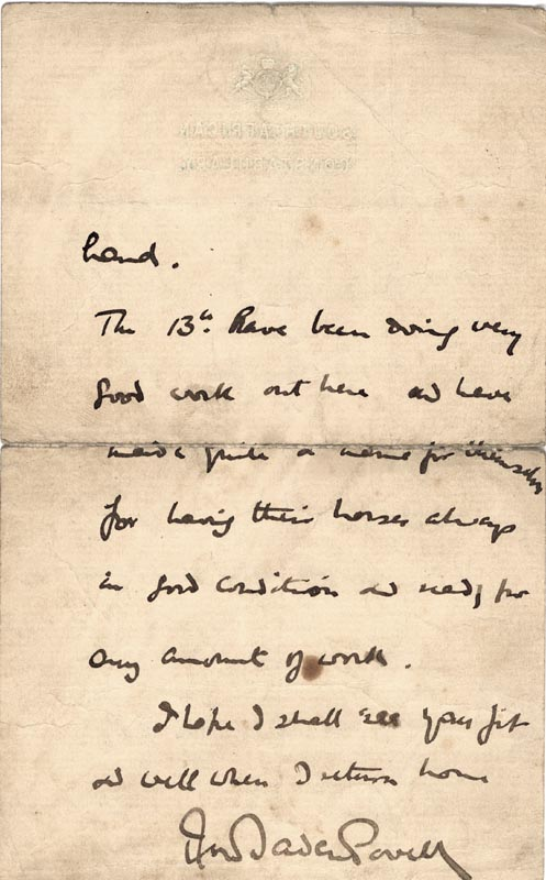 Image 1 for Robert Baden-powell - Autograph Letter Signed 04/03/1902 - HFSID 24348