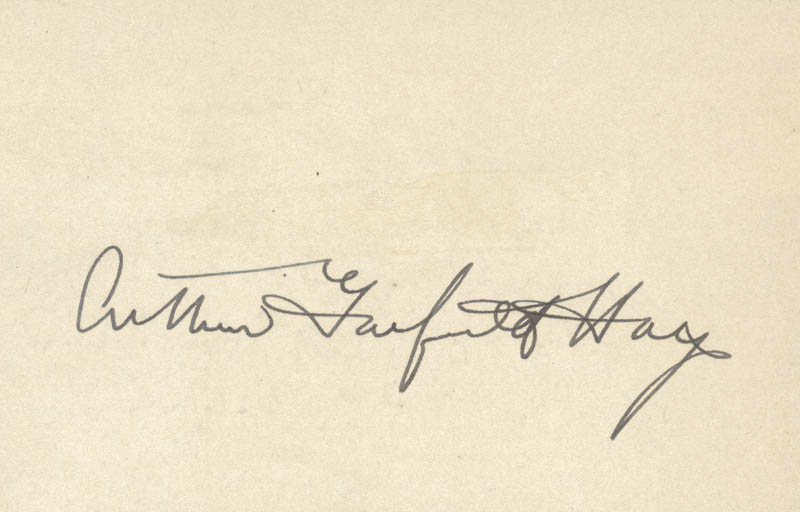 Image 1 for Arthur Garfield Hays - Autograph - HFSID 24509