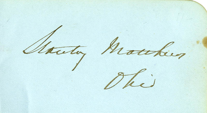 Image 1 for Associate Justice Stanley Matthews - Autograph - HFSID 24512