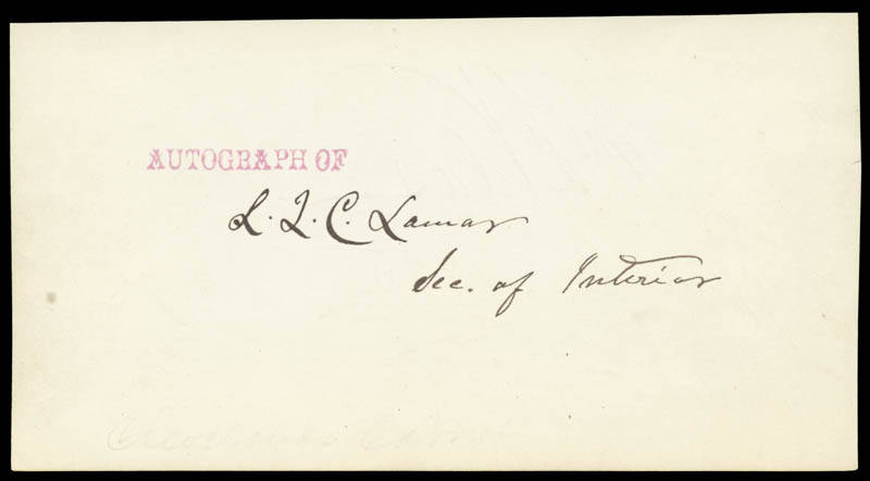 Image 1 for Associate Justice Lucius Q. C. Lamar - Autograph co-signed by: William F. Vilas - HFSID 24514