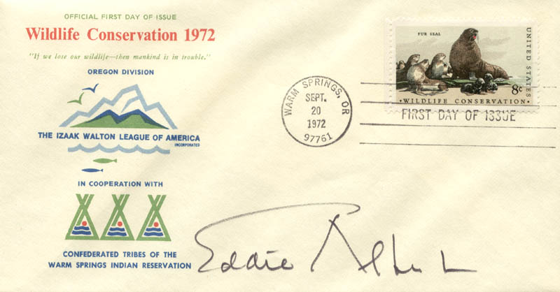 Image 1 for Eddie Albert - First Day Cover Signed - HFSID 24581
