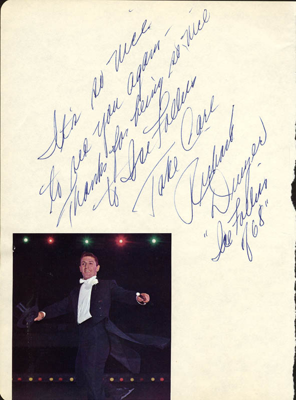 Image 3 for Ed Ames - Autograph Note Signed Circa 05/1968co-signed by: Richard Dwyer - HFSID 24602