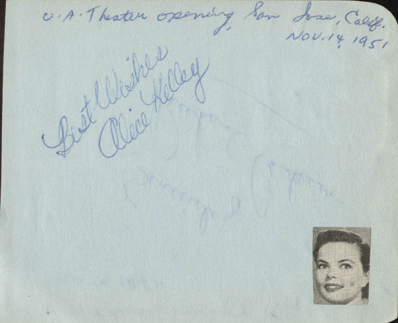 Image 3 for Richard Anderson - Autograph Circa 1951 co-signed by: Alice Kelley - HFSID 24614