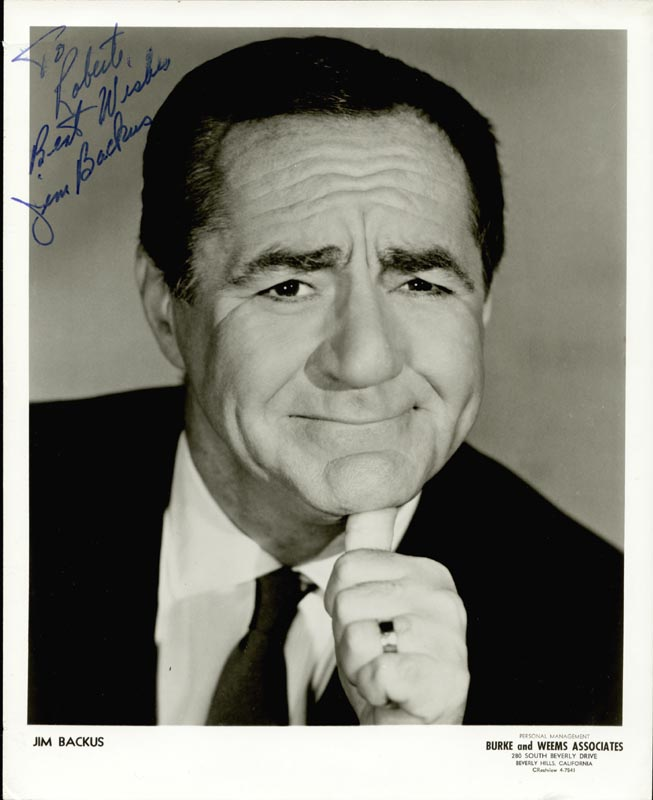 Image 1 for Jim Backus - Autographed Inscribed Photograph - HFSID 24660