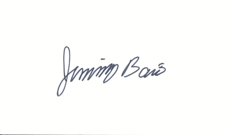 Image 1 for Jimmy Baio - Autograph - HFSID 24667