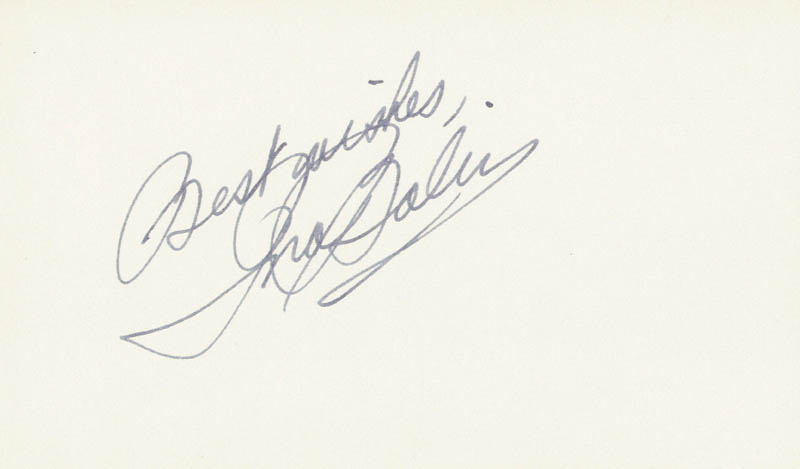 Image 1 for Ina Balin - Autograph Sentiment Signed - HFSID 24674