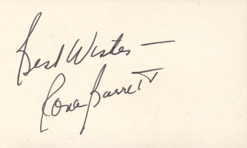 Image 1 for Rona Barrett - Autograph Sentiment Signed - HFSID 24689