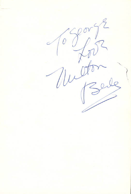 Image 1 for Milton Berle - Autograph Note Signed - HFSID 24738