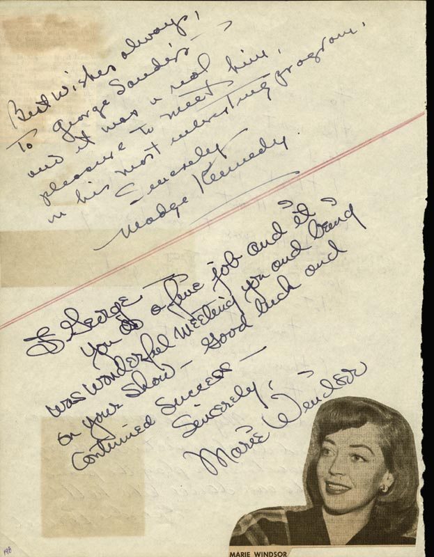 Image 3 for Leslie Caron - Autograph Note Signed co-signed by: Marie Windsor, George A. 'Geordie' Hormel, Madge Kennedy - HFSID 24857