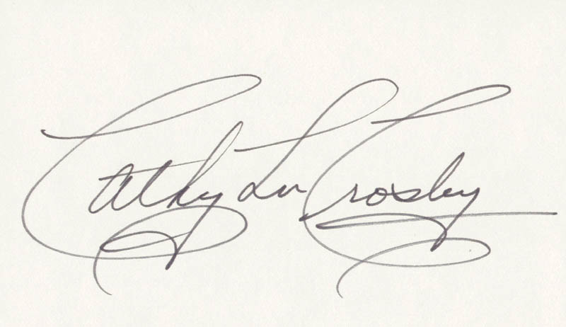 Image 1 for Cathy Lee Crosby - Autograph - HFSID 24953