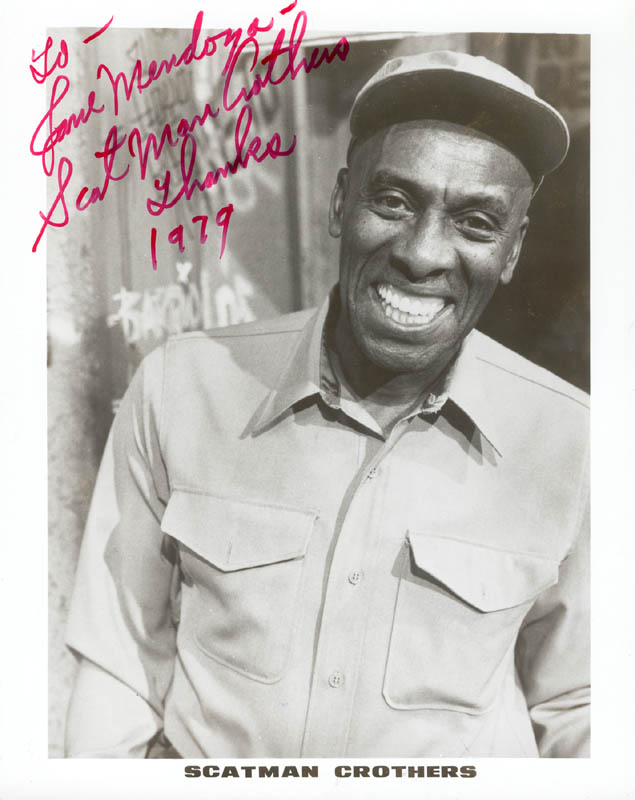 Image 1 for Scatman (Benjamin S.) Crothers - Autographed Inscribed Photograph 1979 - HFSID 24959