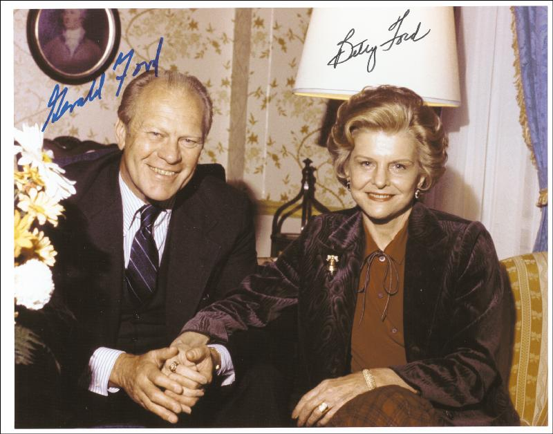 Image 1 for President Gerald R. Ford - Autographed Signed Photograph co-signed by: First Lady Betty Ford - HFSID 250228