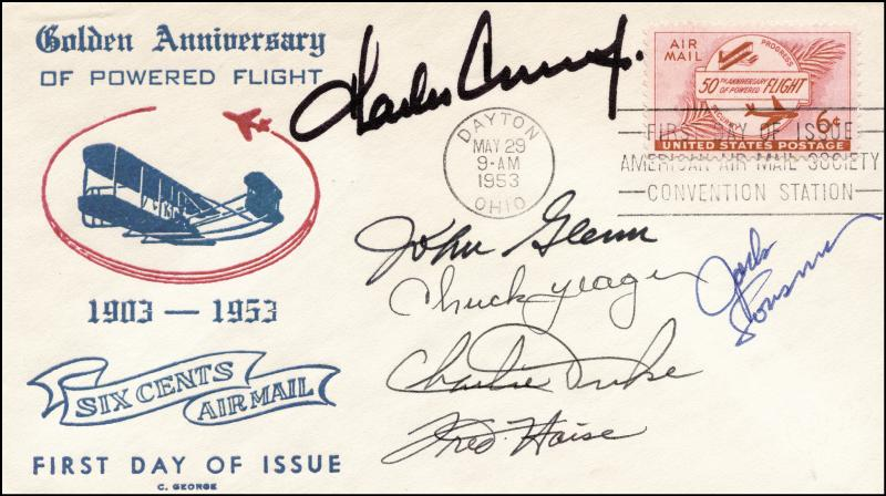 Image 1 for John Glenn - Commemorative Envelope Signed with co-signers - HFSID 250244