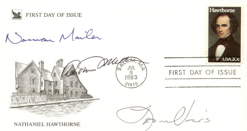Image 1 for Arthur Miller - First Day Cover Signed co-signed by: Norman Mailer, Leon Uris - HFSID 250248