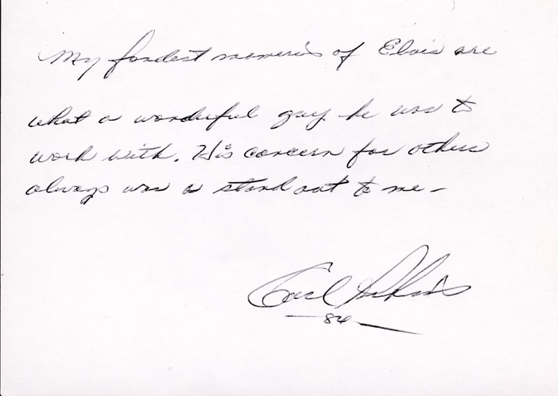 Image 1 for Carl Lee Perkins - Autograph Statement Signed 1984 - HFSID 250301