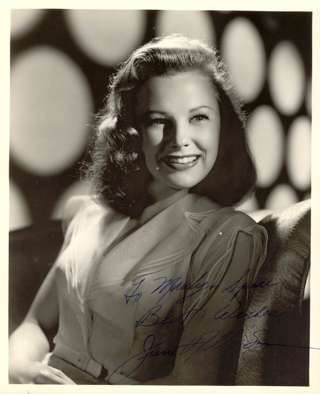 Image 1 for June Allyson - Autographed Inscribed Photograph - HFSID 250309
