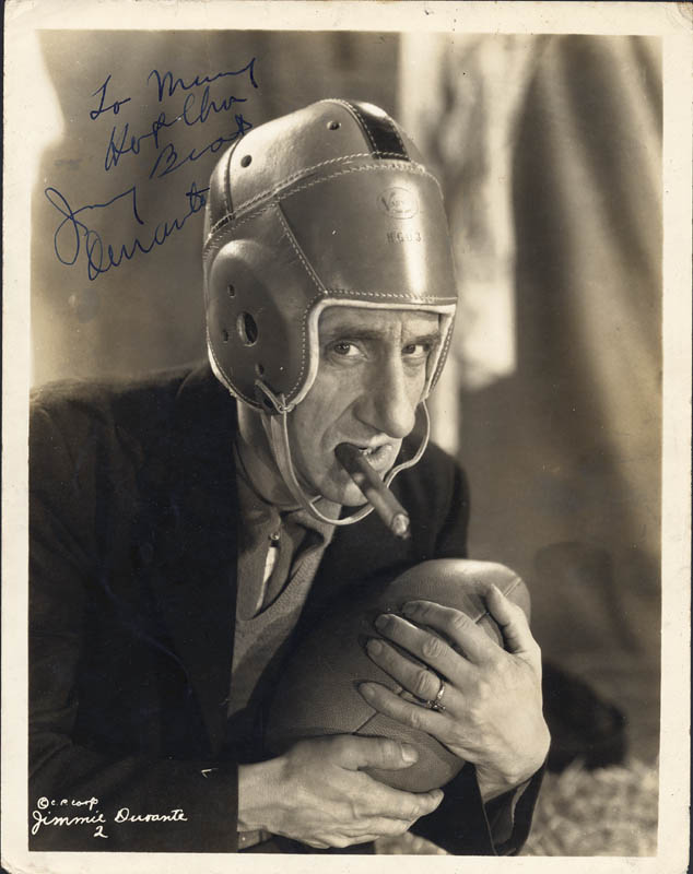 Image 1 for Jimmy 'Schnozzola' Durante - Autographed Inscribed Photograph - HFSID 250357