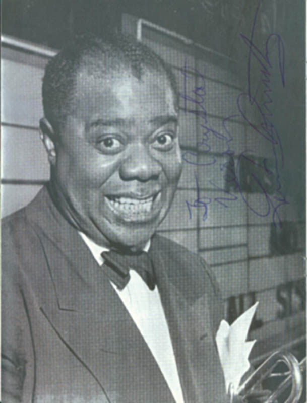 Image 3 for Louis 'Satchmo' Armstrong - Inscribed Program Signed - HFSID 250474