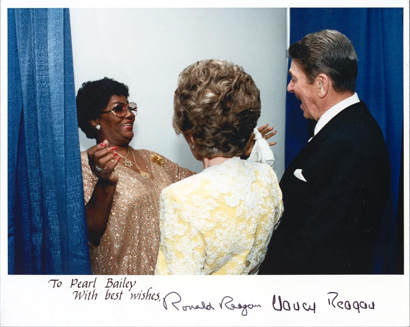 Image 1 for President Ronald Reagan - Autographed Inscribed Photograph co-signed by: First Lady Nancy Davis Reagan - HFSID 250688