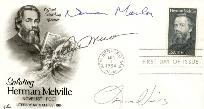Image 1 for Arthur Miller - First Day Cover Signed co-signed by: Norman Mailer, Leon Uris - HFSID 250788