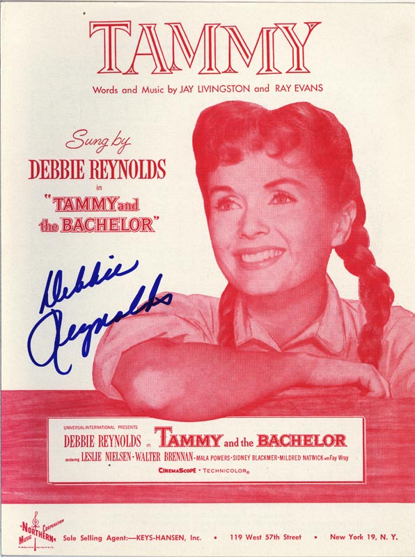 Image 1 for Debbie Reynolds - Sheet Music Signed Circa 1957 - HFSID 250827