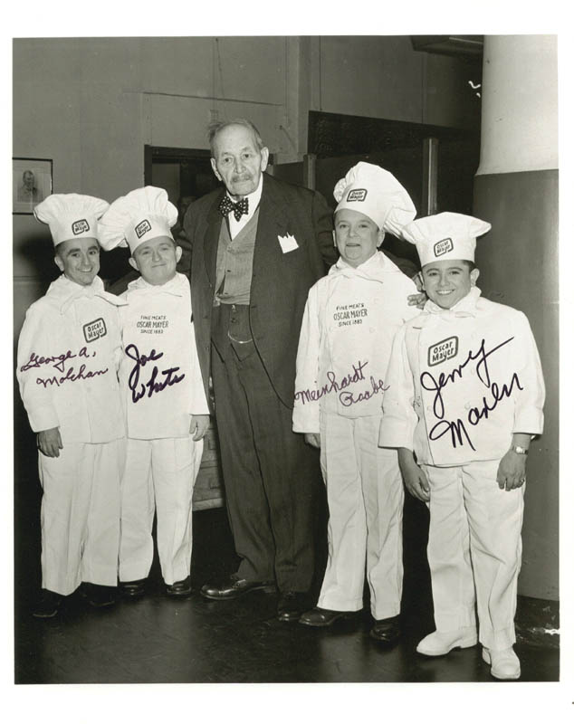 oscar mayer weiner tv commercial cast photograph signed with