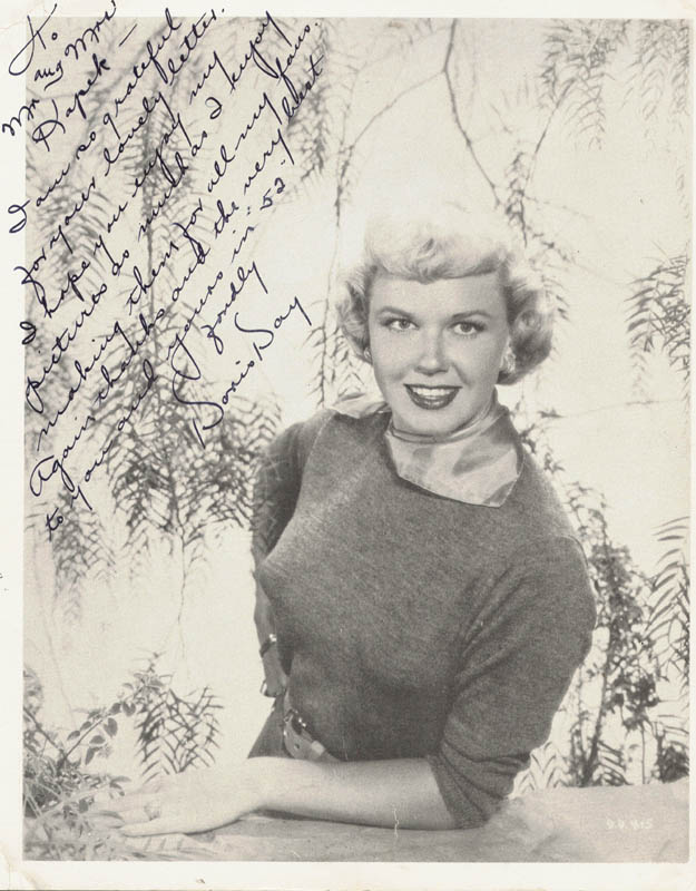 Image 1 for Doris Day - Autographed Inscribed Photograph 1952 - HFSID 250944