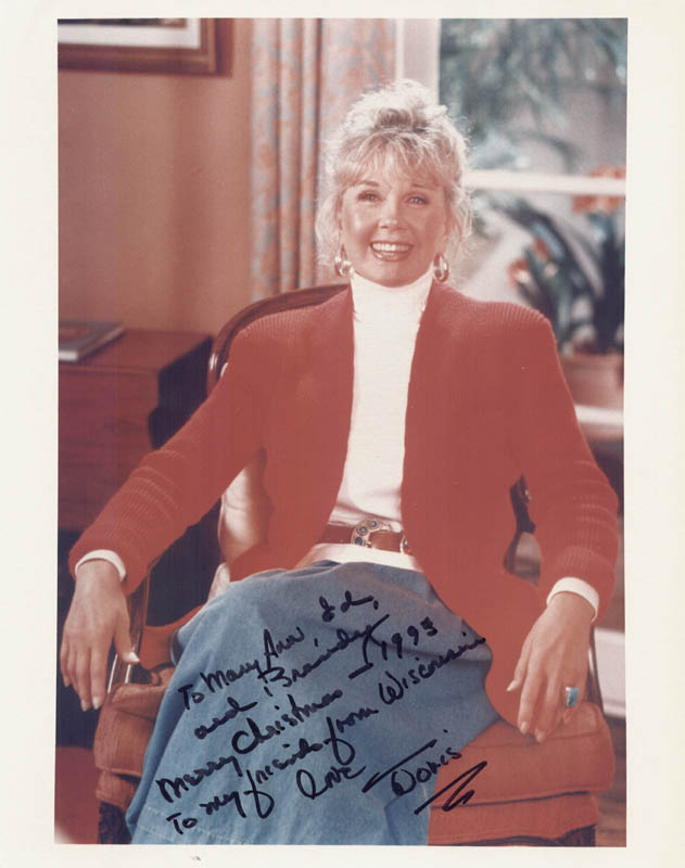 Image 1 for Doris Day - Autographed Inscribed Photograph 1993 - HFSID 250947