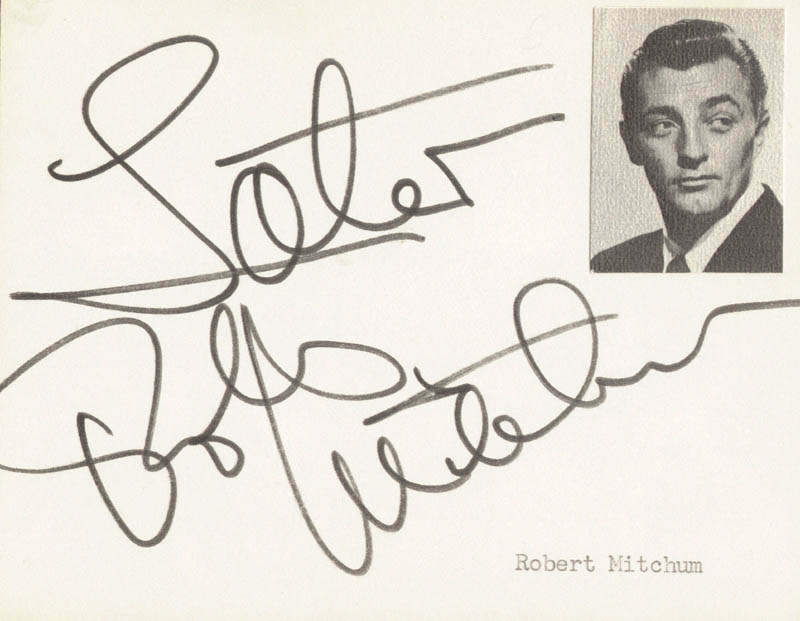 Image 1 for Robert Mitchum - Autograph Sentiment Signed - HFSID 251