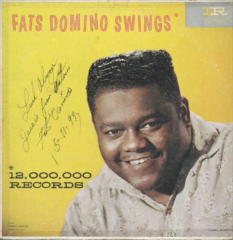 Image 1 for Fats Domino - Inscribed Record Album Cover Signed 05/11/1993 - HFSID 251041