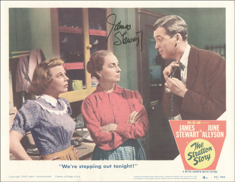 Image 1 for James 'Jimmy' Stewart - Lobby Card Signed - HFSID 251065