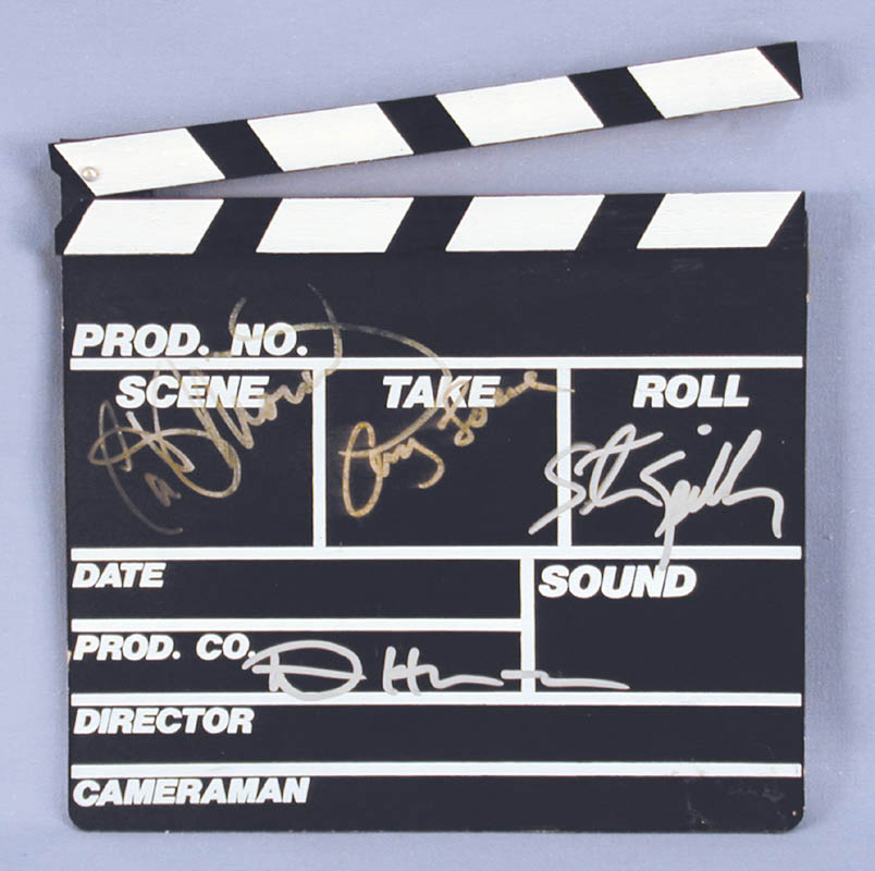 Image 1 for Steven Spielberg - Clapboard Signed co-signed by: Dennis Hopper, Cathy Moriarty, Amy Locane - HFSID 251101