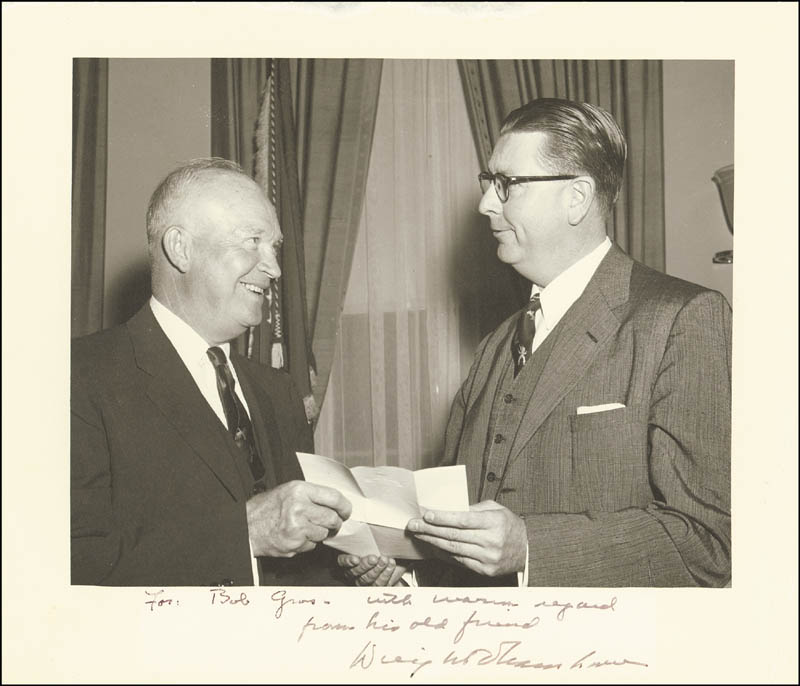 Image 1 for President Dwight D. Eisenhower - Autographed Inscribed Photograph - HFSID 251324