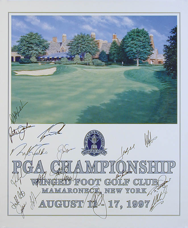 Image 1 for Tiger Woods - Autographed Signed Poster Circa 1997 with co-signers - HFSID 251458