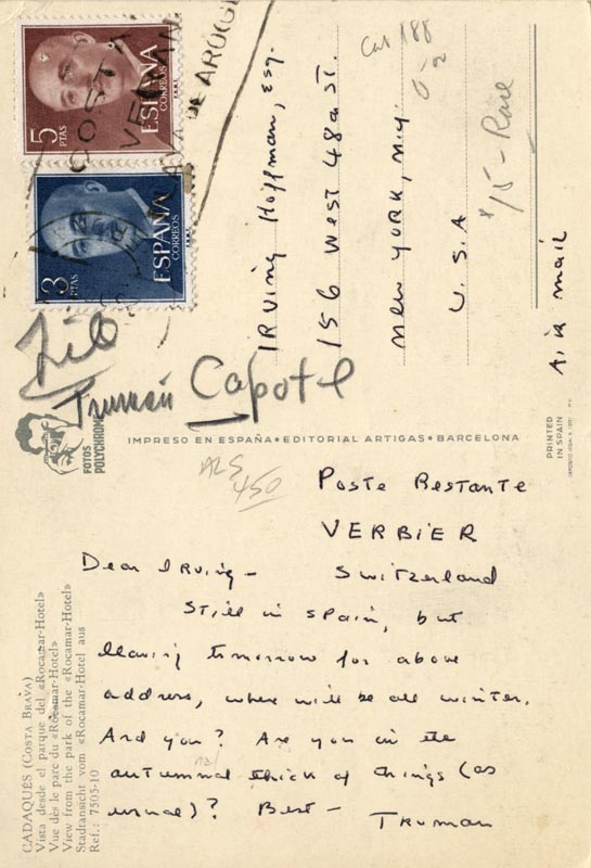 Image 1 for Truman Capote - Autograph Letter Signed - HFSID 251530