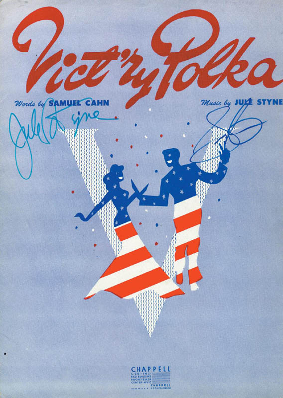 Image 1 for Jule Styne - Sheet Music Signed Circa 1943 co-signed by: Sammy Cahn - HFSID 251562