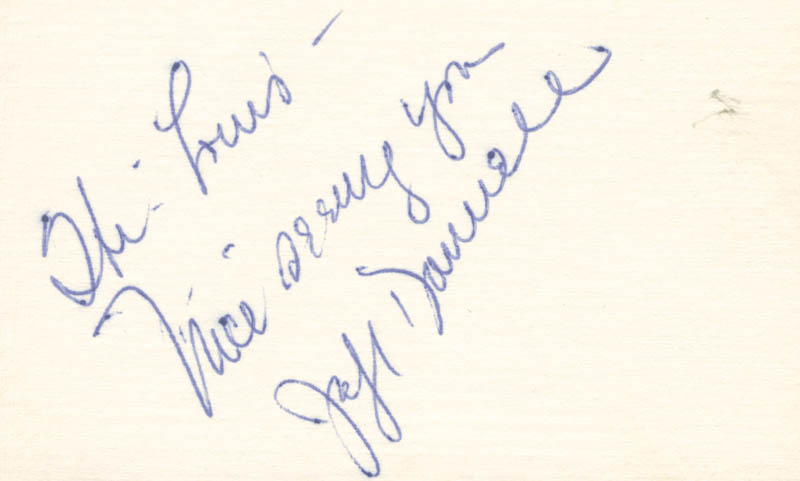 Image 1 for Jeff Donnell - Autograph Note Signed - HFSID 25157