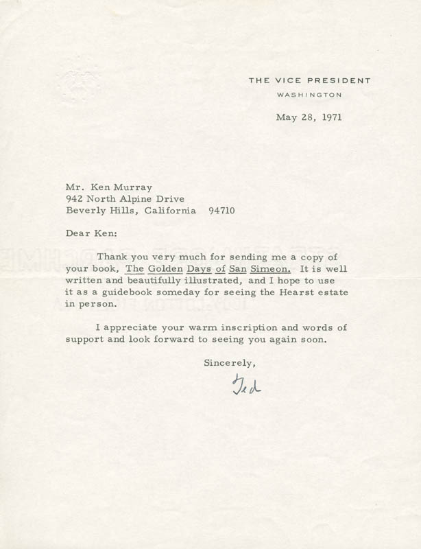 Image 1 for Vice President Spiro T. Agnew - Typed Letter Signed 05/28/1971 - HFSID 251573