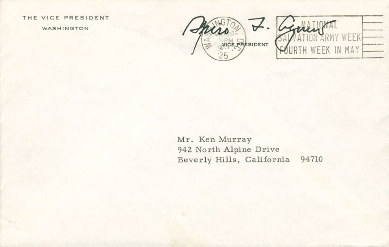 Image 3 for Vice President Spiro T. Agnew - Typed Letter Signed 05/28/1971 - HFSID 251573